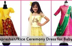 Designer Annaprashan/Rice Ceremony Dress for Baby Girl