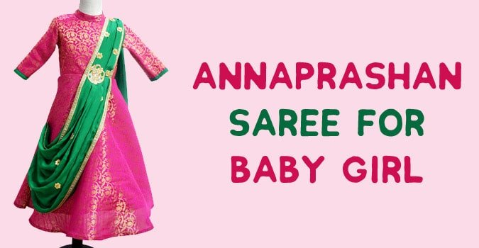 Annaprashan Saree for Baby Girl
