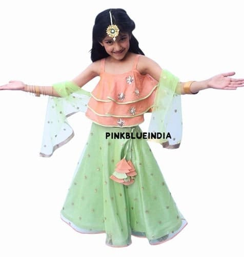 Pattu Pavadai Kids Ethnic Wear Lehenga Choli