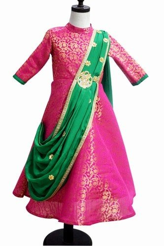 Pattu pavadai ethnic style Dress