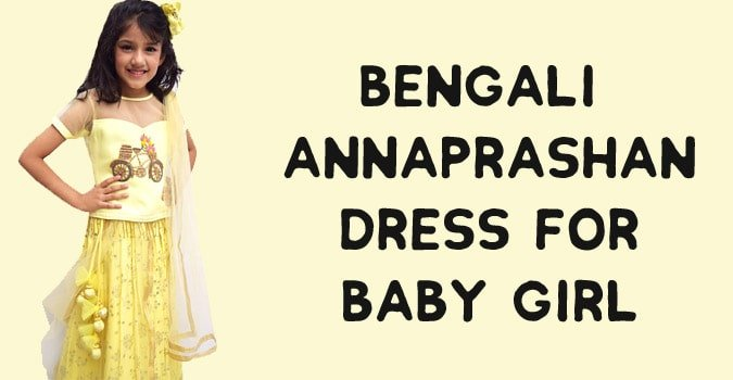 Bengali Annaprashan Dress for Baby Girl