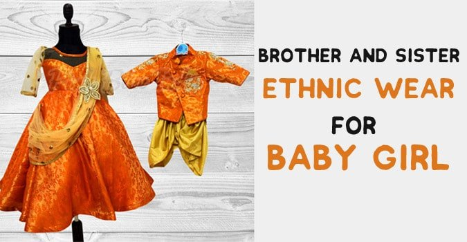 Brother and Sister Ethnic Wear - Matching Dress Outfit