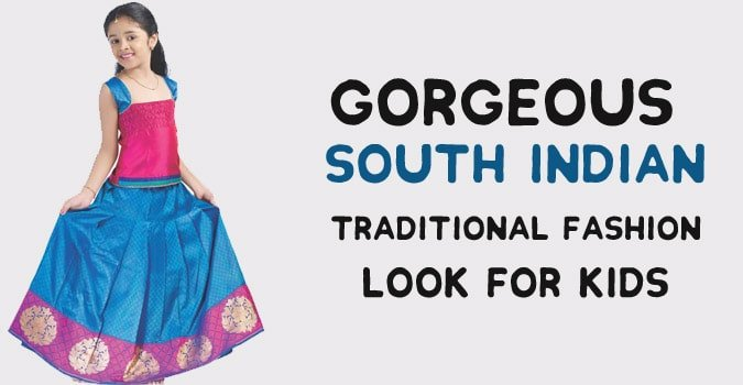 Kids South Indian Traditional Dress