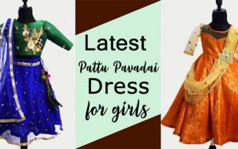 Beautiful Girls Pattu Pavadai Dress in 2020 | Kids Ethnic wear, Lehenga