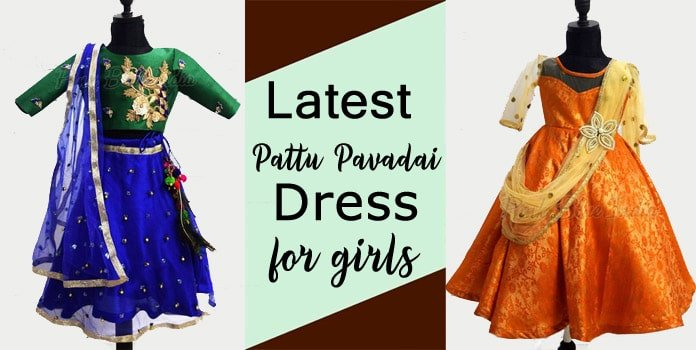 Baby Girl Pattu Pavadai Dress - Pattu Pavadai Kids Ethnic Wear
