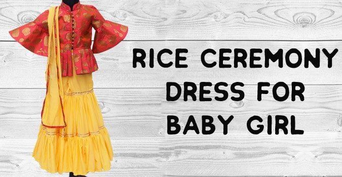 Rice Ceremony Dress for Baby Girl