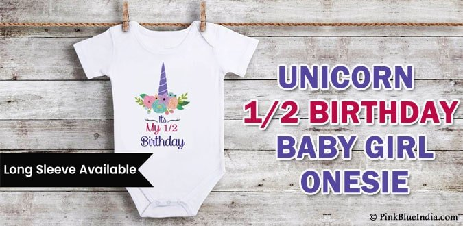 Unicorn 1/2 Birthday Outfit Girl Unicorn Birthday Baby Onesie
