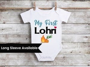 First Lohri Baby Boy Girl Onesie