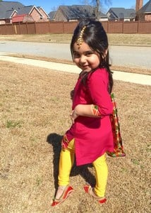 Punjabi Salwar Kameez Suit for Child Girl