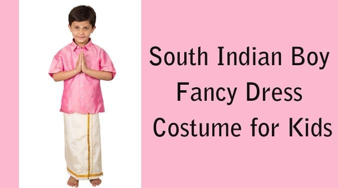 South Indian Boy Fancy Dress Costume for Kids