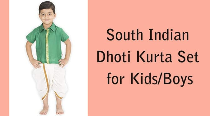 South Indian Dhoti Kurta Set for Kids/Boys