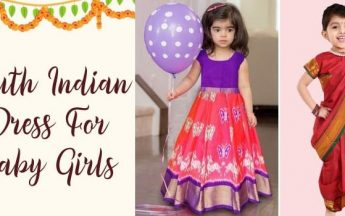 South Indian Traditional Dress For Baby & Toddler Girls