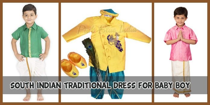 South Indian Traditional Dress for Baby Boy