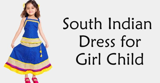 South Indian Dress for Girl Child Traditional Dress