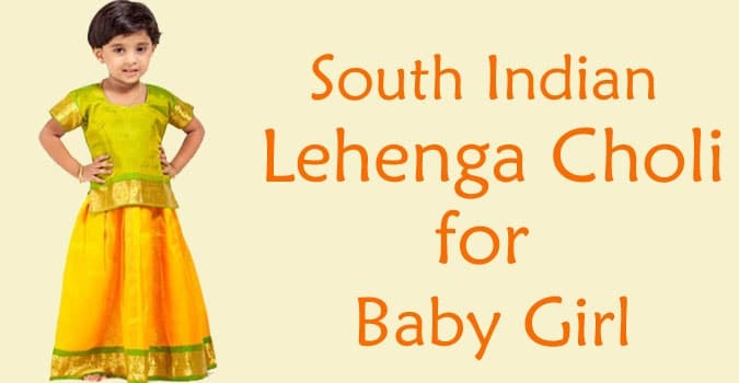 Baby Girl South Indian Lehenga Choli Pattu Pavadai