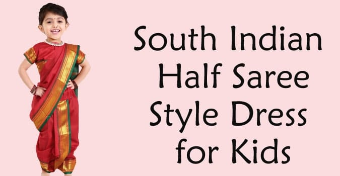south indian half saree lehenga Kids half saree Dress