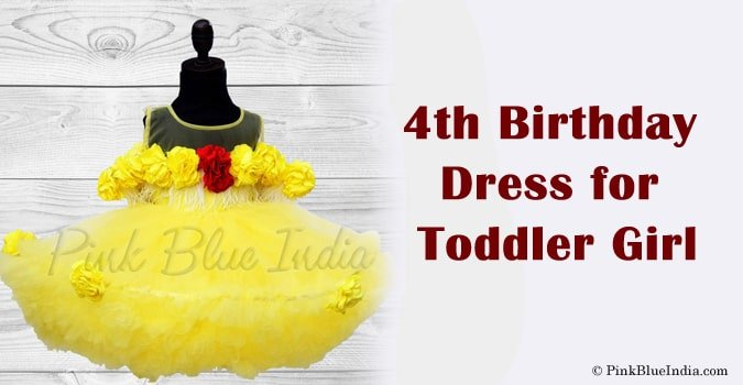 4th Birthday Dress for Toddler Girl