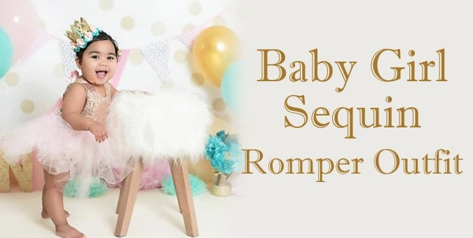 Baby Girl Sequin Romper - first Birthday Romper outfit