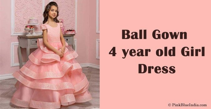 Ball Gown 4 year old Girl Party Dress India