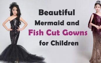 Beautiful Mermaid Dresses and Fish Cut Gown for Children