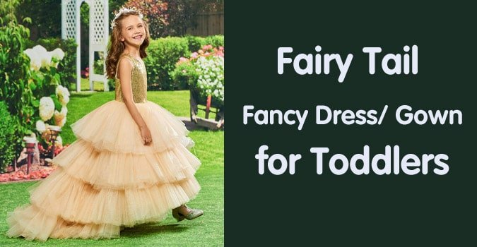 Kids Fairy Tail Fancy Dress - Toddler Fairytale Gown