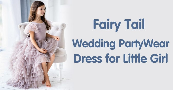 Little Girl Fairy Tail Wedding Party Dress - Kids Fairytale Dress
