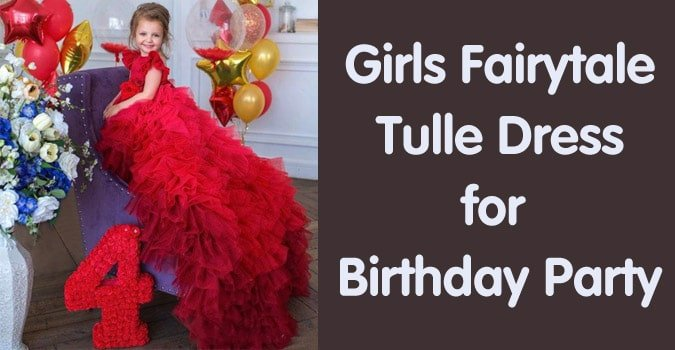 Girls Birthday Party Fairytale Tulle Dress Online India