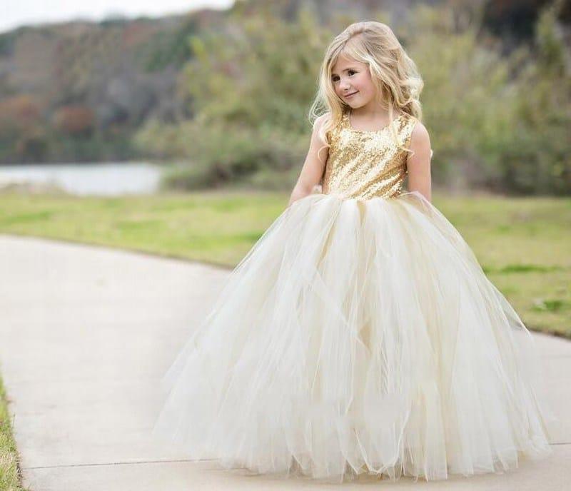 Gold Sequin Dress for Little Girl