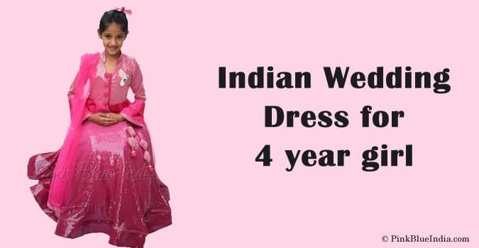 Indian Wedding Dress for 4 year girl