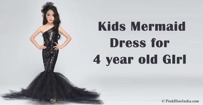 Kids Mermaid Dress for 4 year old