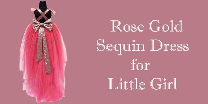 Rose Gold Sequin Dress for Little Girl