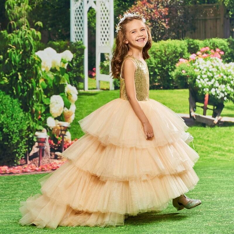 Little Girl Sequin Birthday Party Dress