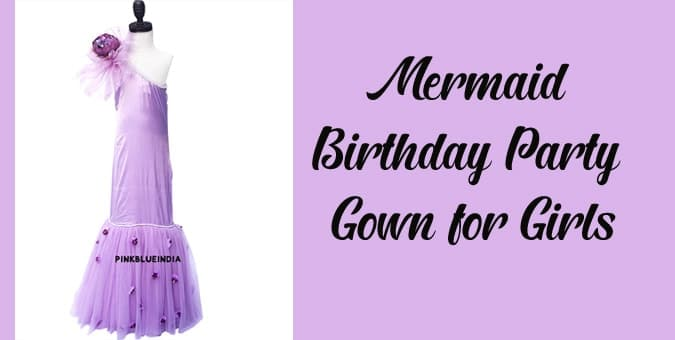 Girls Mermaid Birthday Party Gown - Fish Cut Dress
