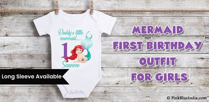 Girls Mermaid First Birthday Outfit - 1st Birthday Onesie