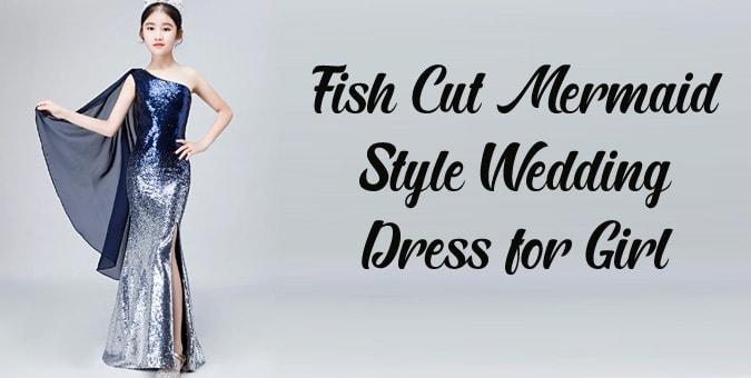Fish Cut Dress - Baby Girl Mermaid Style Wedding Dress