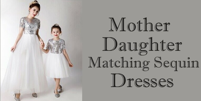 Mother Daughter Matching Sequin Dresses