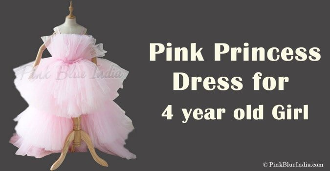 4 year Girl Pink Princess Dress - Pink Dress