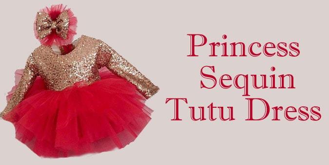 Princess Sequin Tutu Dress