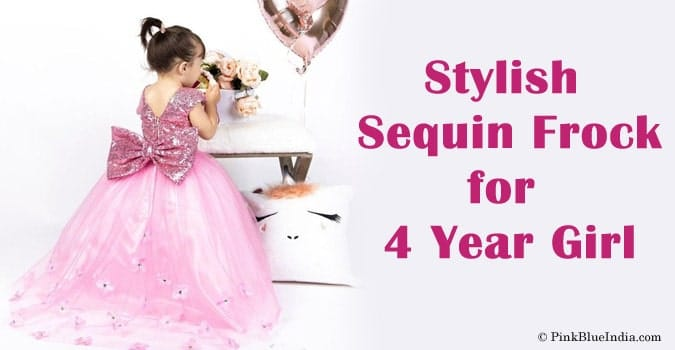 4 Year Girl Sequin Frock - Sequin Dress