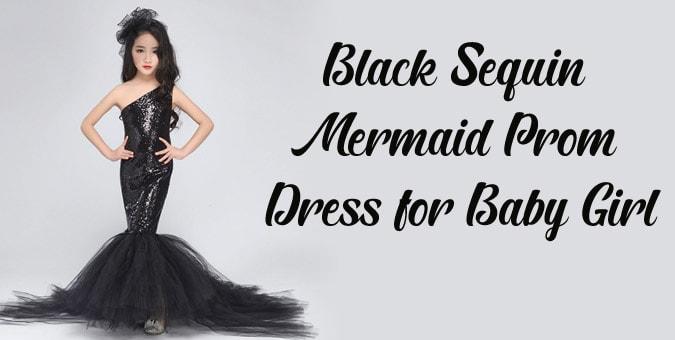 Baby Girl Sequin Mermaid Prom Dress - Mermaid Party Wear Gown