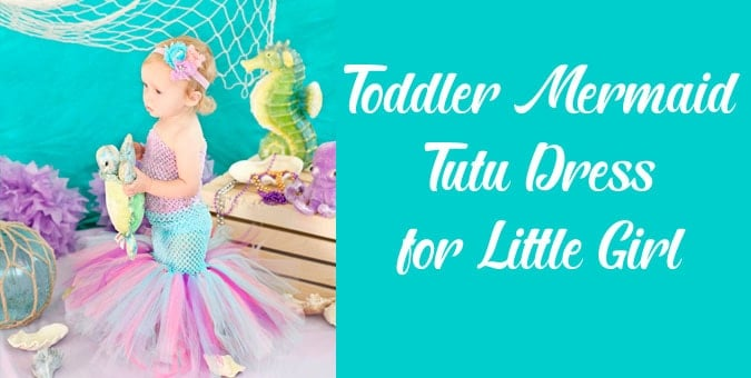 Toddler Mermaid Tutu Dress for Little Girl