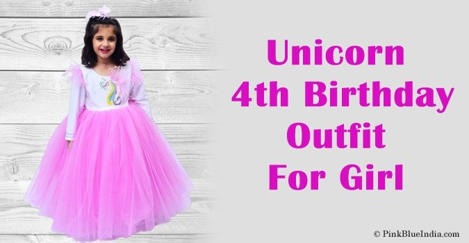 Unicorn 4th Birthday Outfit - Unicorn Dress