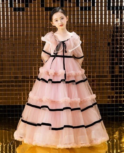 Juniors Vintage Style Dress - Girls Party Gown
