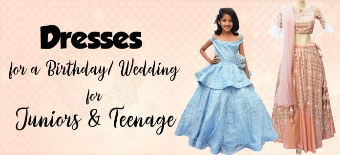 Teenage Girl Party Dresses, Juniors Birthday, Wedding Gown India