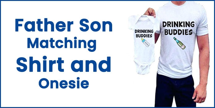 Father Son Matching Onesie, Daddy's Drinking Buddy