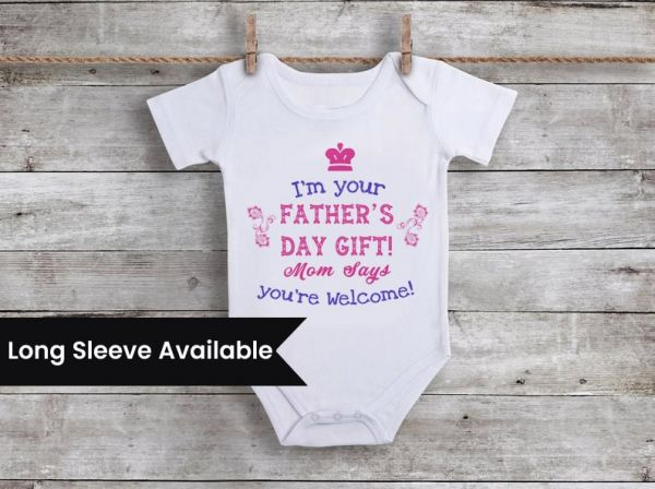 Order Online Personalized Fathers Day Onesie, Baby Romper