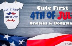 Baby Boy/Girl My First 4th of July Onesie, 1st Fourth of July