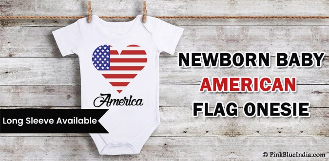 American Flag Onesie, 4th of July Baby Romper, USA Independence Day Bodysuit