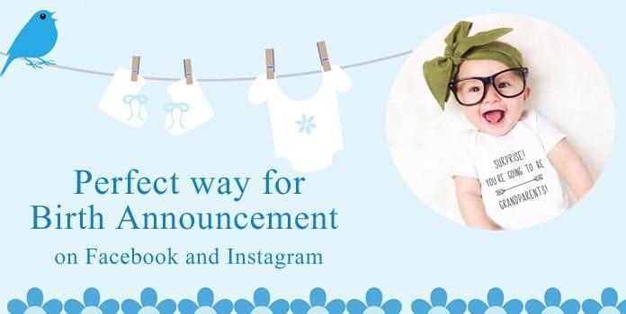 Birth Announcement Onesie, Pregnancy Announcement Bodysuit, Facebook, Instagram
