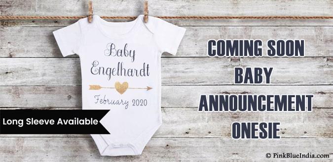 Coming Soon Baby Announcement Onesie, Photo Prop Onesie
